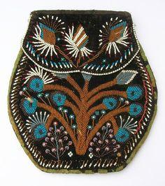 Historic Iroquois and Wabanaki Beadwork: Unusual 19th Century Iroquois Floral Bags