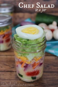 Chef Salad In A Jar.