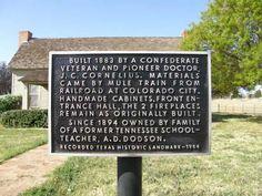 Snyder Tx - J.C. Cornelius House Historical Marker