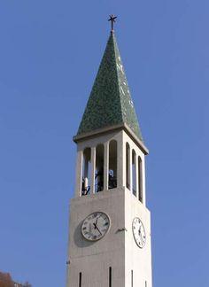 Campanile della chiesa di San Leonardo a Dogna (UD). Tipologia a torre isolata [SIRPAC - Scheda 8083]