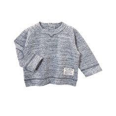 Baby Boy Sweatshirt In Mouline Jersey   Petit Bateau