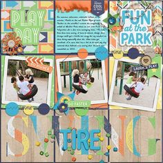 Park Play Kit from Peppermint Creative #play #kids #outside #digiscrap #digitalscrapbooklayout #digitalscrapbook #layout by @lraewoo