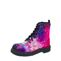 Look at this Galaxy Print Combat Boot on today! Womens Gothic Boots, Galaxy Print, Ankle Booties, Me Too Shoes, Fab Shoes, Leather Boots, Shoe Boots, Dm Boots, Designer Shoes