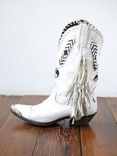 vintage steeltip beaded boots.