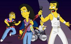 Queen on the Simpson's!!