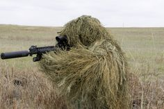ghillie suits designed for the Texas prairie