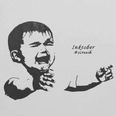 #inktober2017 #inktober #inkart #day9 #screech  #inkartist #blackink