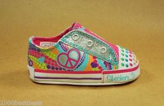 Skechers Sparks New Born Crib Multi Color Baby Girls Shoes Twinkle Toes 89237N | eBay