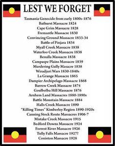 A list of massacres on Aboriginal people.