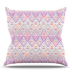 East Urban Home Soft Petal Tribal by Pom Graphic Design Outdoor Throw Pillow