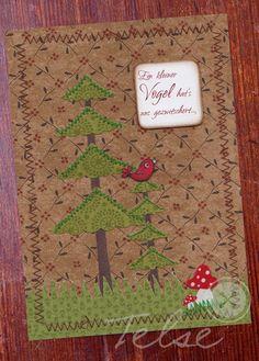 """Postkarte """"Vogelgezwitscher"""" von Telse Ahrweiler       Kunst + Design auf DaWanda.com"""