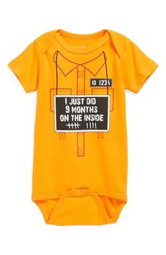 @Bo Sara Kety Baby & Kids '9 Months on the Inside' Bodysuit (Baby Boys) available at #Nordstrom