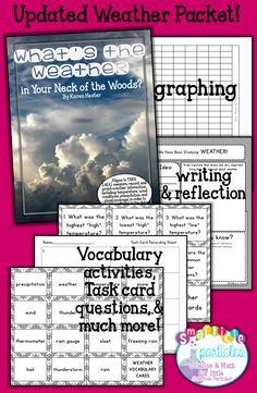 Four Week Weather graphing activity for 2nd & 3rd grades. I use this every year! Vocabulary, writing, and reflection activities included!!