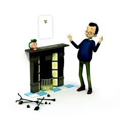 Man & Fireplace © Lloyds TSB 2013  Oh no! What's gone missing??
