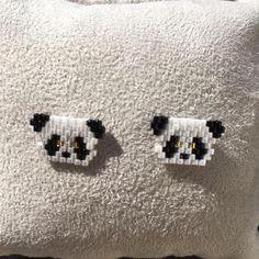 Clous d'oreilles tete de panda mini bijoux