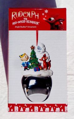 NIB ROMAN RUDOLPH HERMEY BUMBLE LARGE JINGLE BELL CHRISTMAS ORNAMENT DECORATION #RomanInc #Ornament