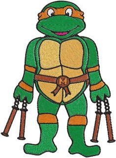 Ninja Turtles Machine Embroidery Design -- 0251