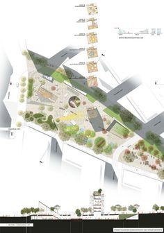 Bustler: Stewart Hollenstein & Colin Stewart Architects Win Sydney's Green Square Library Competition