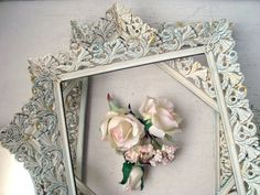 Antique White Vintage Filigree Frames and by WillowsEndCottage