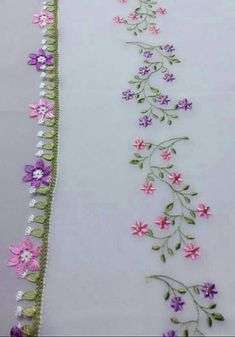 very beautiful model – Needle lace Saree Embroidery Design, Diy Embroidery Patterns, Border Embroidery Designs, Hand Embroidery Videos, Hand Work Embroidery, Embroidery Flowers Pattern, Creative Embroidery, Simple Embroidery, Hand Embroidery Stitches