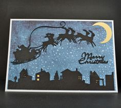 Image detail for -Inky Fingers: Cricut Christmas card. Cricut Christmas Cards, Christmas Card Crafts, Cricut Cards, Christmas Cards To Make, Christmas Greeting Cards, Handmade Christmas, Holiday Cards, Christmas Stuff, Cards