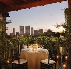 The scene: a private verandah under the stars. The view: the glimmering lights of Los Angeles. Candles flicker, sultry tunes set the mood and a gourmet feast awaits.