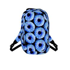 #bluedonuts by #chefjenkins, #citrusreport, #backpack, bookbag, #fluffy, #yum, #sugar, #sweet, #doughnuts, #sprinkles, #blue #foodtshirt #foodclothes #foodprint #alloverfoodprint @Matty Chuah Citrus Report