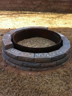 Awesome tutorial for installing your very own fire pit. This is definitely happening this summer!