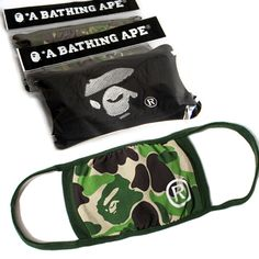 BAPE Camo Face Mask 100% Cotton Stay safe and avoid the plagues by keeping your Bathing Ape mask at all times!