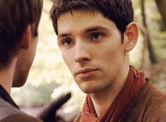 """Cheeky!Merlin (gif) """"what in the name of my beard is he going to do with that finger.."""""""