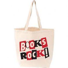 Books Rock Canvas Tote Bag
