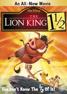 Day 28, Favorite Sequel: Lion King 1 1/2. I usually don't like sequels, but this one is great :)