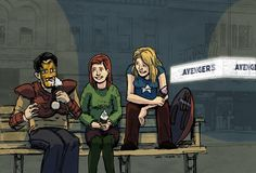 Xander, Willow and Buffy go to watch the Avengers