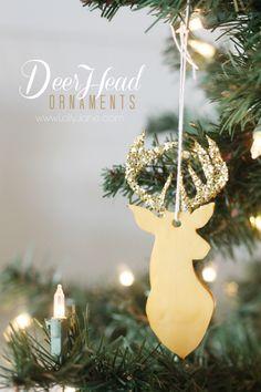 Easy clay deer head ornament ornament tutorial clay and ornament clay deer head ornaments i heart nap time easy clay deer head ornament diy solutioingenieria Gallery