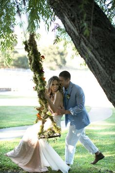 Engagement with a swing