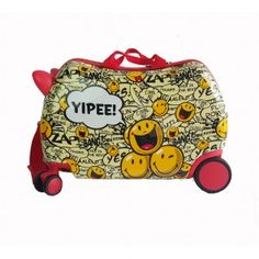 53ad68777 ATM Luggage Kids Smiley Wheeled Cruiser - Yippee 3-7Y Hardside Spinner  Luggage, Smiley