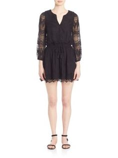 JOIE Bittern Lace Silk Dress. #joie #cloth #dress