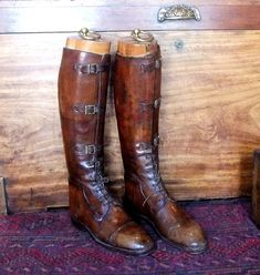 Cavalry boots, late 19th century, offered by Fanshawe Blaine Antique's, at The Barn, Raphine, VA. Equestrian Boots, Equestrian Outfits, Equestrian Style, Riding Boots Fashion, Fashion Shoes, Mens Fashion, Sock Shoes, Shoe Boots, France Outfits