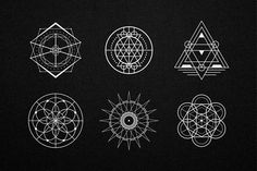 30 Sacred Geometry Vectors by Tugcu Design Co. on Creative Market