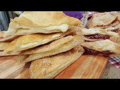 Tortas fritas rellenas de membrillo y queso - YouTube