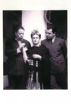 Diego Rivera, Frida Kahlo y Miguel Covarrubías