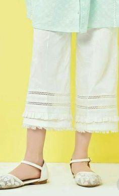 Best 12 – Page 315603886382633083 – SkillOfKing.Com Sleeves Designs For Dresses, Dress Neck Designs, Frock Fashion, Fashion Pants, Capri Trousers, Trouser Pants, Plazzo Pants, Salwar Pattern, Pakistani Fashion Casual