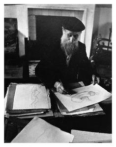 Aristide Maillol in his Studio by Brassaï, Paris, 1937.