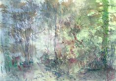 landscape-original-watercolor-Picture-30x21-cm0208-NL-Landschaft-Aquarell