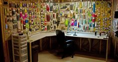 Fly tying room?  More like fly tying palace!