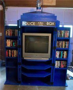 TARDIS tv cabinet - it's bigger on the inside.