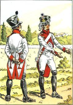 Fusiliers 30e de Ligne 1806, d'après H. Boisselier pour Bucquoy