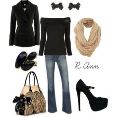 I wish... can't do off the shoulder, and there's no way I'd make it three steps in those heels. But, I still love it!