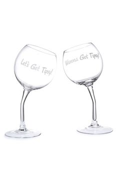 Let's get tipsy wine glasses - great hostess gift