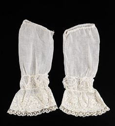 Undersleeves 1855, American, Made of cotton... Accessory Set http://www.pinterest.com/pin/158118636892143098/